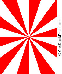 Red and White Rays