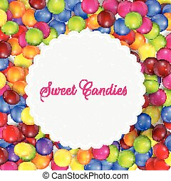 Candy frame background