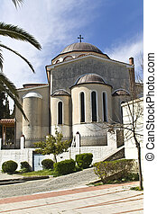 Orthodox church at Kavala city in Greece