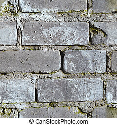 Seamless background - dirty moldy brick wall - Seamless...