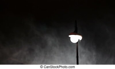 Lamppost in the winter and snow - Snowy included lamppost at...