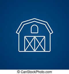 Farm building line icon - Farm building line icon for web,...