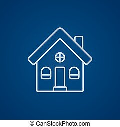 Detached house line icon. - Detached house line icon for...