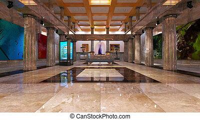Lobby - 3D CG rendering of lobby