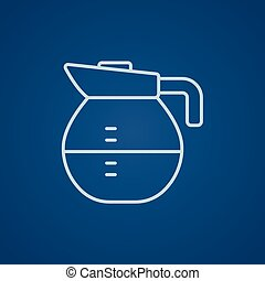 Carafe line icon - Carafe line icon for web, mobile and...
