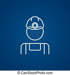 Coal miner line icon. - Coal miner line icon for web, mobile...