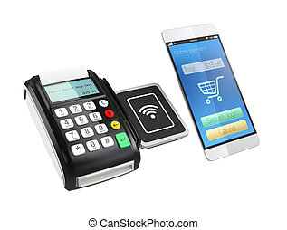 Using smartphone to process payment - Using smart phone to...