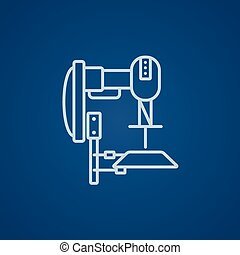 Industrial automated robot line icon - Industrial automated...
