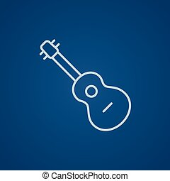 Guitar line icon - Guitar line icon for web, mobile and...