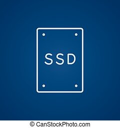 Solid state drive line icon - Solid state drive line icon...