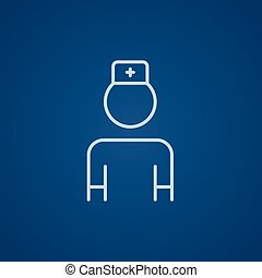 Nurse line icon - Nurse line icon for web, mobile and...