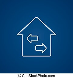 Property resale line icon - Property resale line icon for...