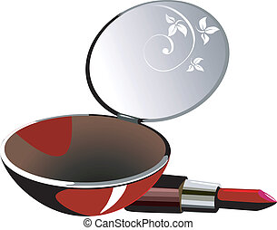 Lipstick  and mirror