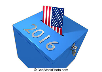 2016 presidential elections concept - Render illustration of...