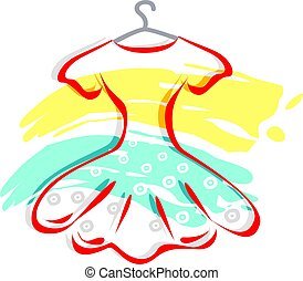 Frock with hanger - Illustration Frock with hanger