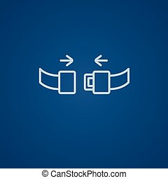 Seat belt line icon. - Seat belt line icon for web, mobile...
