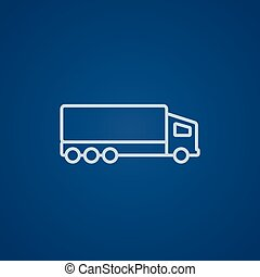 Delivery truck line icon - Delivery truck line icon for web,...