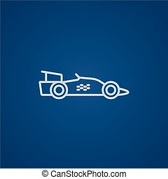 Race car line icon - Race car line icon for web, mobile and...