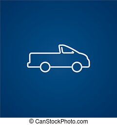Pick up truck line icon. - Pick up truck line icon for web,...