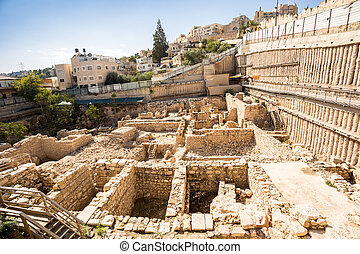 Archeological site in Jerusalem, Israel - Archeological site...