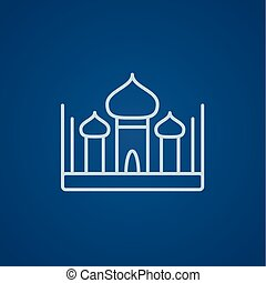 Mosque line icon - Mosque line icon for web, mobile and...