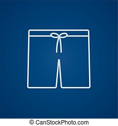 Swimming trunks line icon.