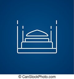 Taj Mahal line icon - Taj Mahal line icon for web, mobile...