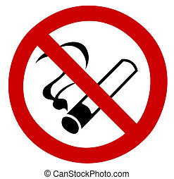 No Smoking Sign - No smoking stop sign restrict smoke...