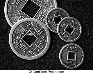 Chinese feng shui coins for good fortune and success in...