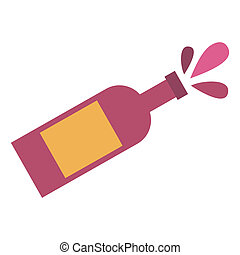 Champagne bottle flat icon for web and mobile devices