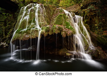 waterfall in the forest, Bigar, Romania