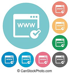 Flat domain registration icons - Flat domain registration...