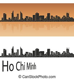 Ho Chi Minh Skylineeps - Ho Chi Minh skyline in orange...