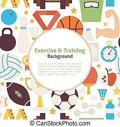 Flat Sport Exercise and Training Ve