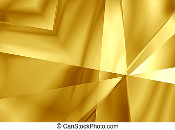 Abstract light mirror shape gold color background.
