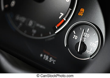 Coolant gauge - Coolant temperature gauge on a car's...