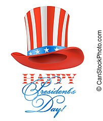 president hat on white happy presidents day greeting vector...