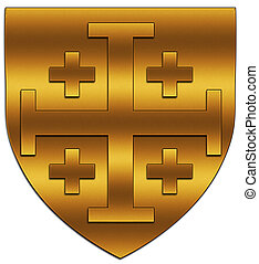 crest - A crest of the Latin Kingdom of Jerusalem
