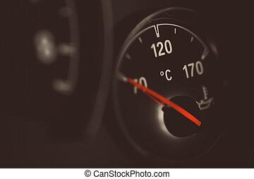 Coolant gauge - Coolant temperature gauge on a car's...