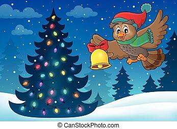 Christmas owl theme image 5