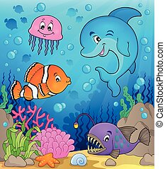 Ocean fauna topic image 1 - eps10 vector illustration