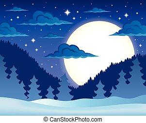 Winter night Vector Clipart Illustrations. 18,141 Winter night ...