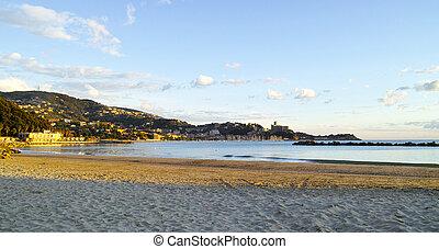 coastline in Lerici - detail of coastline in lerici a...
