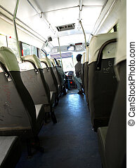Riding the Bus - inside of a public bus in argentina