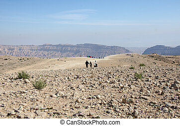 Tourists at Negev desert  - Tourists at Negev desert