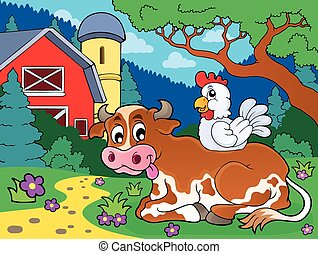 Cow theme image 4 - eps10 vector illustration