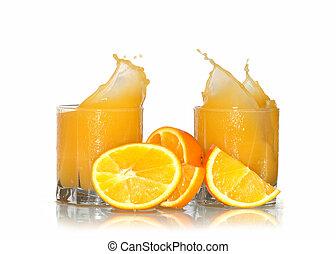 Splashing Orange Juice