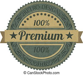 Vector illustration of a banner premium