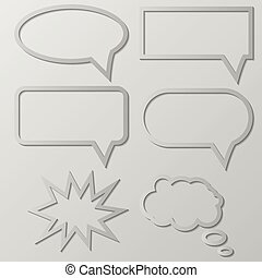 Vector illustration of Speech Balloon - Vector illustration...