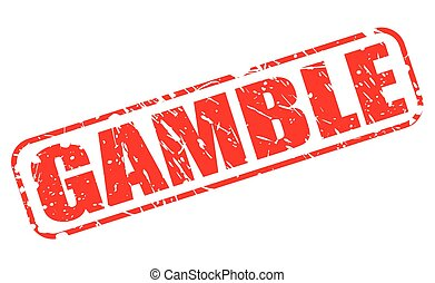 GAMBLE red stamp text on white